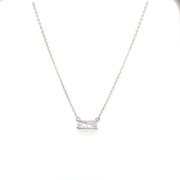 (3 Options!) Baby Baguette Bar Necklace