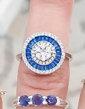 Pop of Blue Sterling Silver Rings