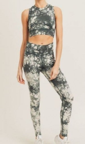 Tie-Dye Cotton Racerback Sports Bra