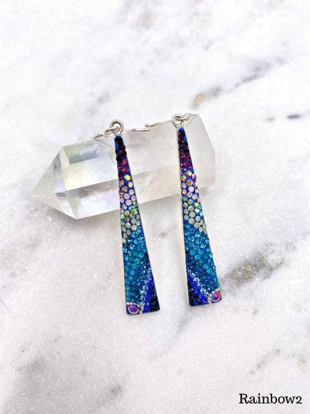 (3 options) Elongated Pyramid Mosaic Earrings