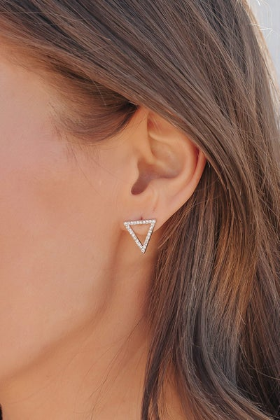 Swarovski Crystal Triangle Stud Earring