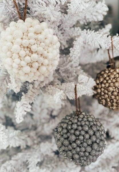 (Set of 3!) Glitter Ball Ornaments