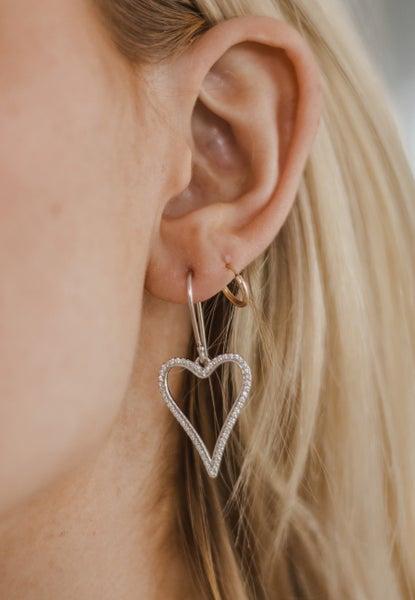 Krush Kouture: Pointed Heart Dangle Earring