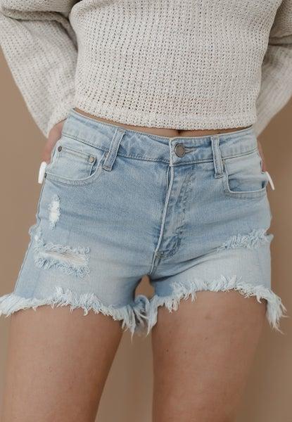 (S-3X, 2 colors) Always Hopeful Hi-Lo Hem Shorts
