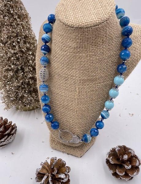 Royal Blue Madagascar Agate Necklace