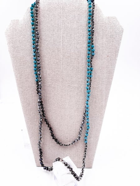 Lovely and Long Stone Beaded Necklace