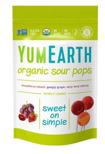 Organic Sour Lollipops
