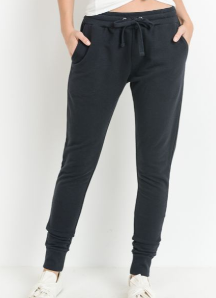 Terry Cloth Drawstring Jogger