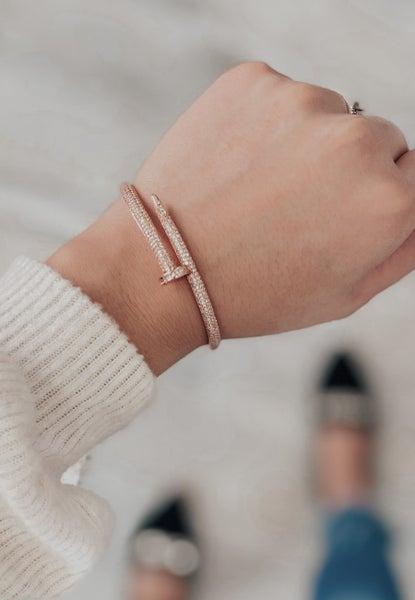 (3 colors) Sparkly Nail Bangle Bracelet