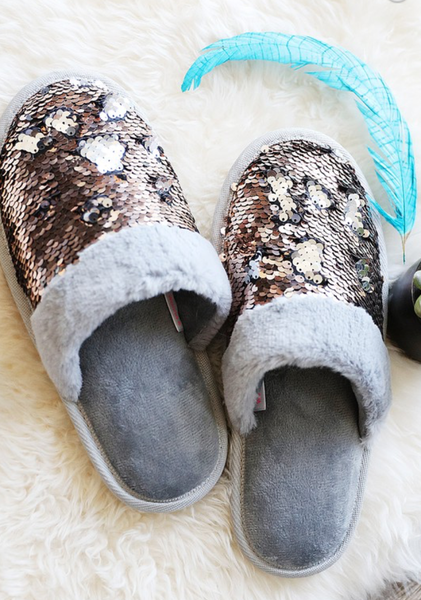Sweet and Sassy Sequin Slippers
