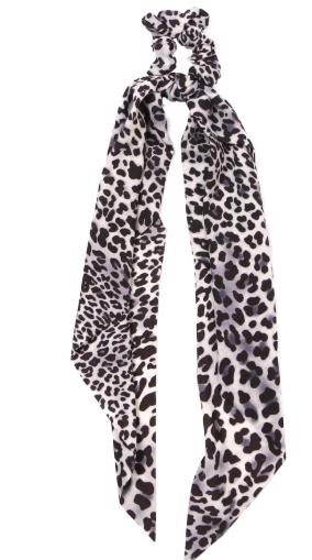 Leopard Hair Tie Scarf