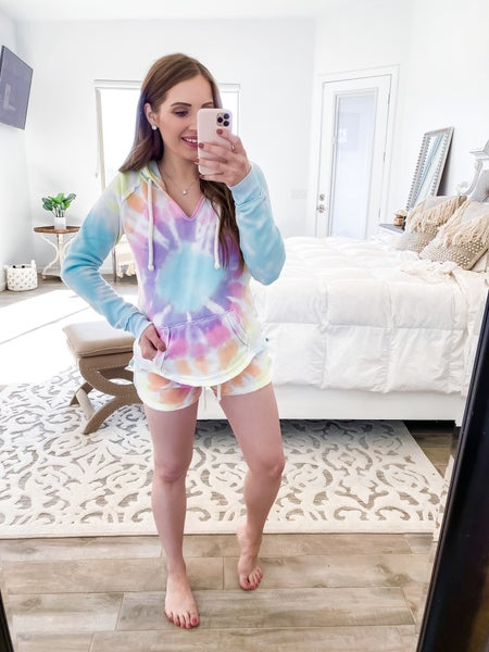 Totally Speechless Burnout Tie Dye Shorts