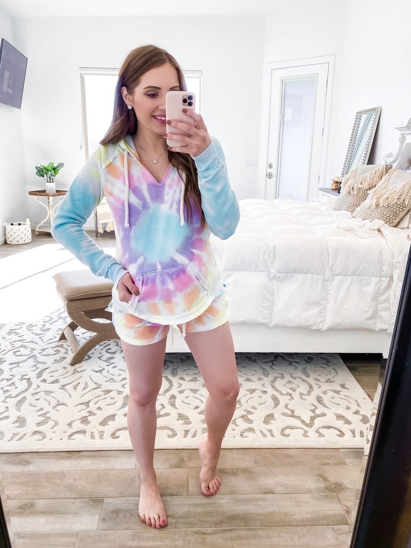 Totally Speechless Burnout Tie Dye Shorts
