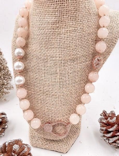 Classy Light Pink Necklace