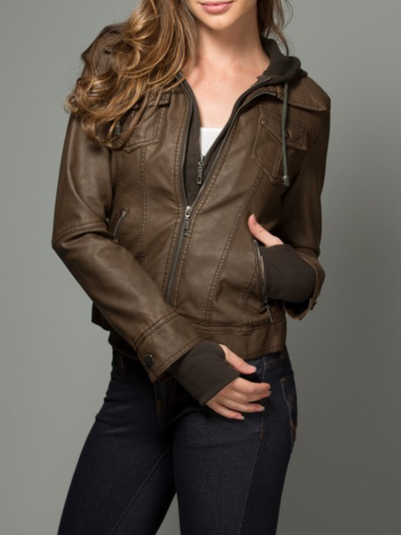 (S-XL) Girl Next Door Hooded Jacket