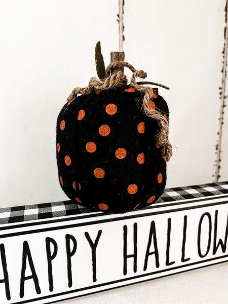 Mini Fabric Polka Dot Pumpkin