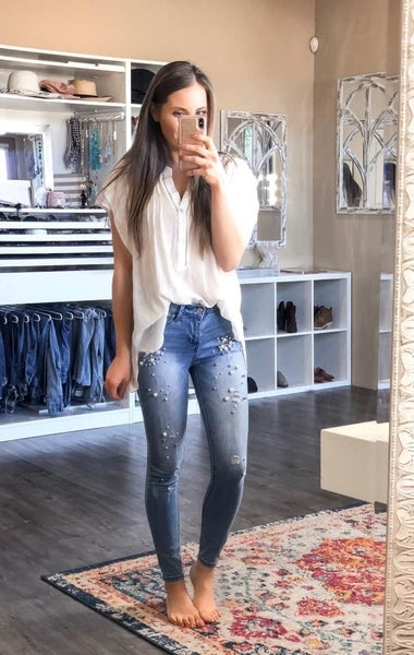 Light Wash Pearl Jeans