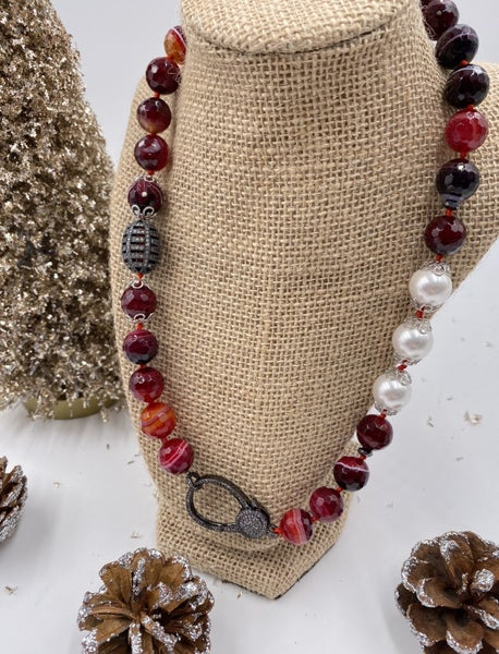 Madagascar Agate Red Necklace