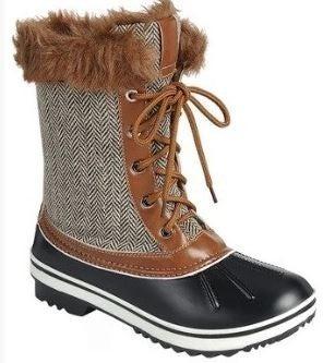(5.5, 6 & 8 size left!) 2 colors! Fur Top Snow Boots