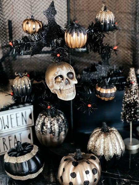 (Set of 4!) All Hallow's Eve Pumpkin Ornaments