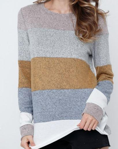 Cuddly Color Block Top