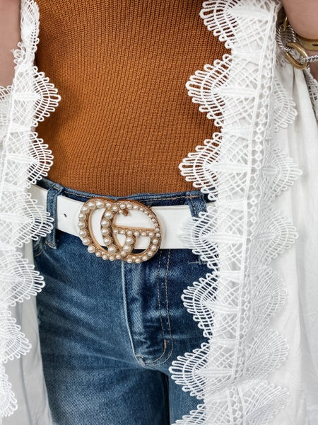 Gucci Dupe Pearl Belt