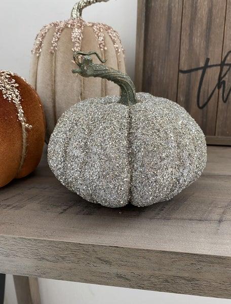 Large Glittered Pumpkin