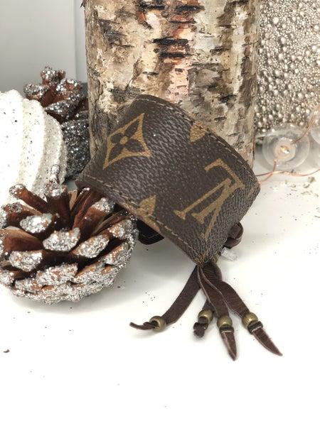 LV Upcycled Leather Bracelet