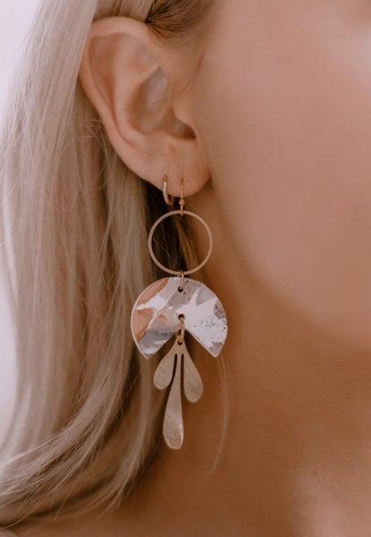 Piece Of My Heart Clay Earrings