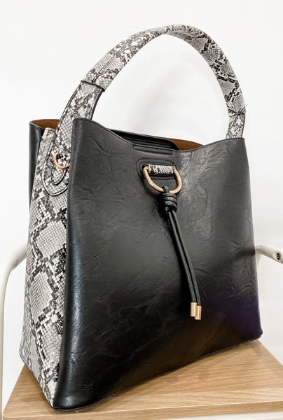 Side Snakeskin Bag
