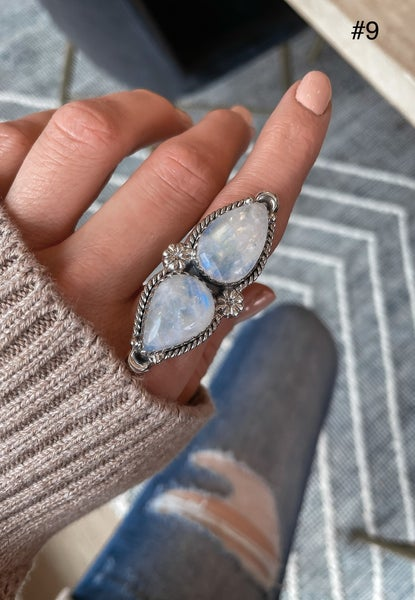 KRUSH EXCLUSIVE: Double Moonstone Crawler Ring