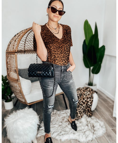 (X-S-XL KRUSH EXCLUSIVE) Lovely Leopard Suede Tee