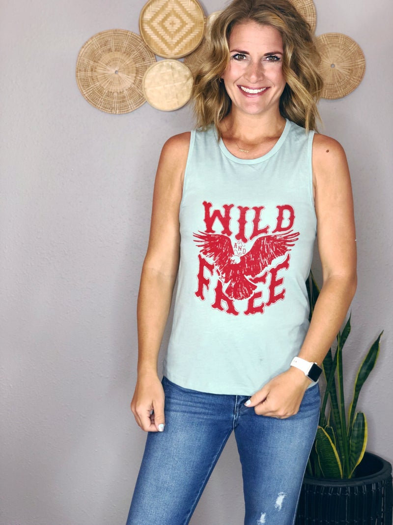 WILD AND FREE MUSCLE TANK