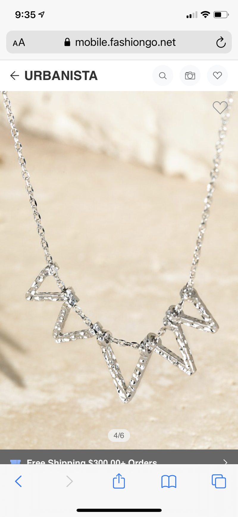 """16"""" TRIANGLE NECKLACE"""