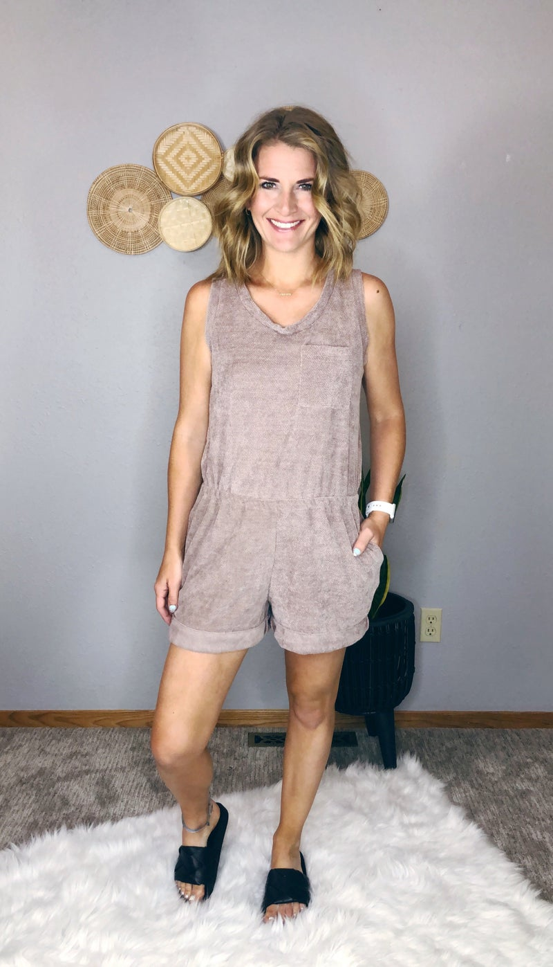 KNIT ROMPER WITH SCOOP NECK