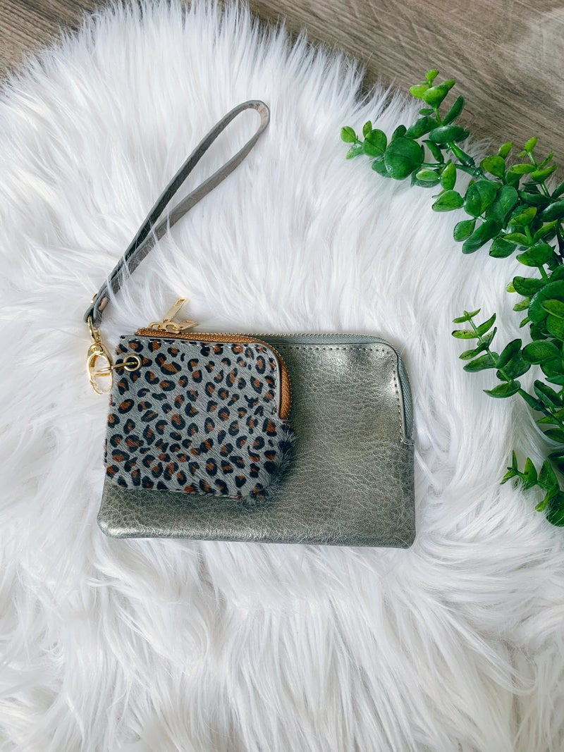 WALLET WRISTLET WITH COIN POUCH