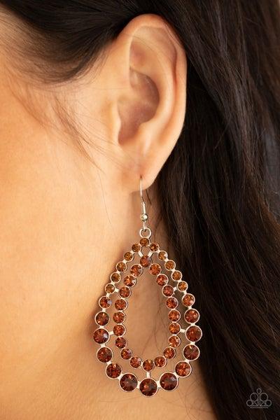 Glacial Glaze Brown Earrings