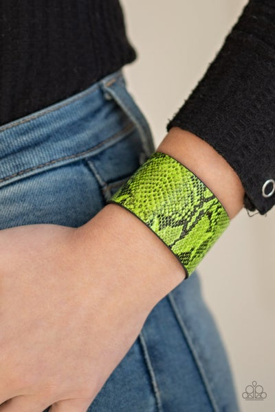 It's A Jungle Out There Green Bracelet