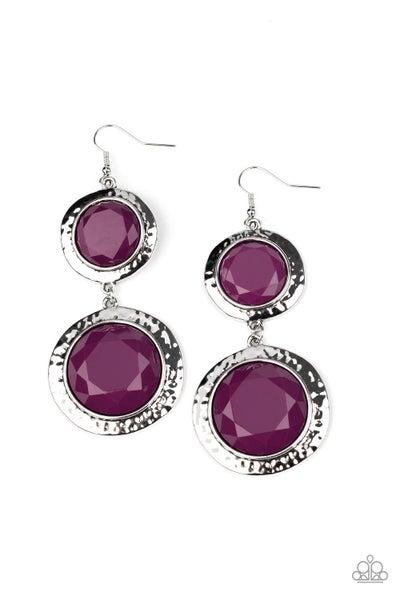 Thrift Shop Stop Purple Earrings