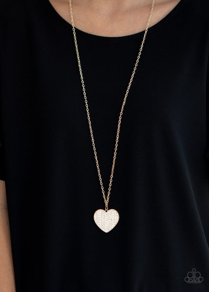 Have To Learn The Heart Way Gold Necklace