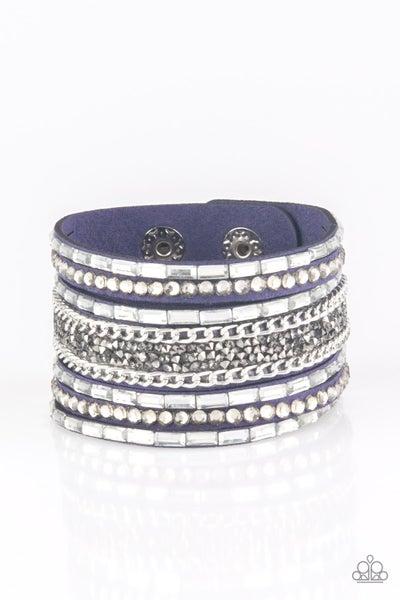 Rhinestone Rumble Blue Bracelet