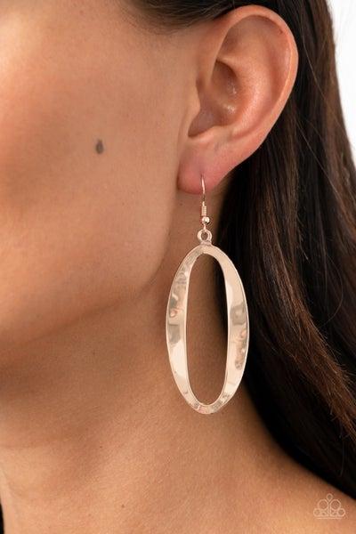 Oval My Head Rose Gold Earrings