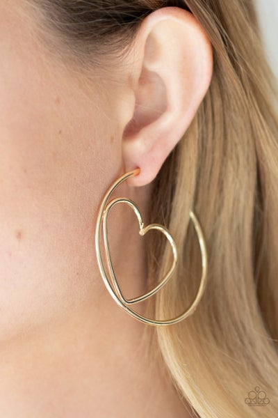 Love At First Bright Gold Hoops