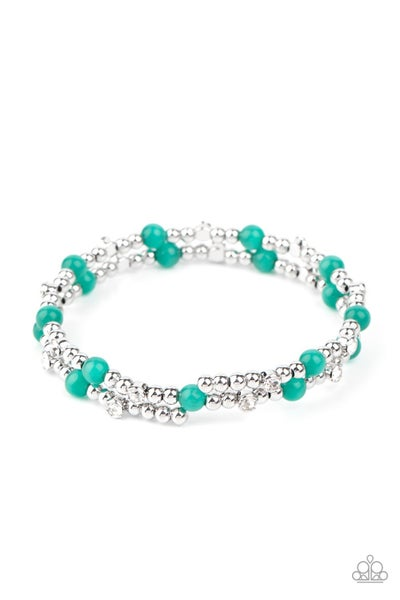 Ethereally Entangled Green Bracelet