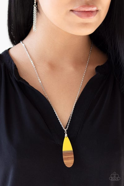 Going Overboard Yellow Necklace