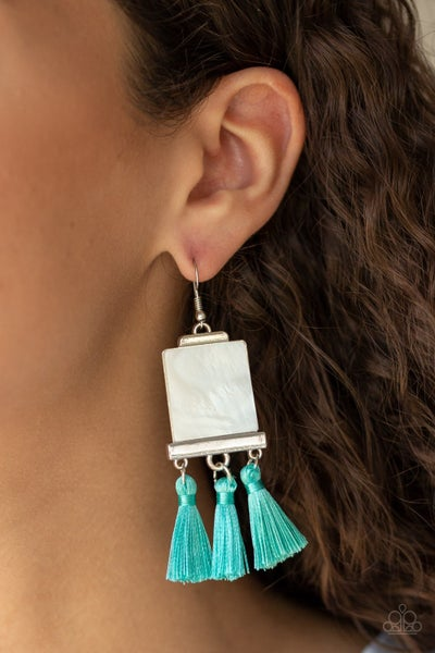 Tassel Retreat Blue Earrings
