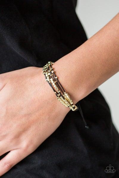 Modern Minimalism Black Gold Bracelet