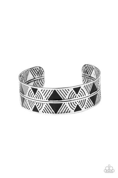 Hidden Glyphs Black Bracelet
