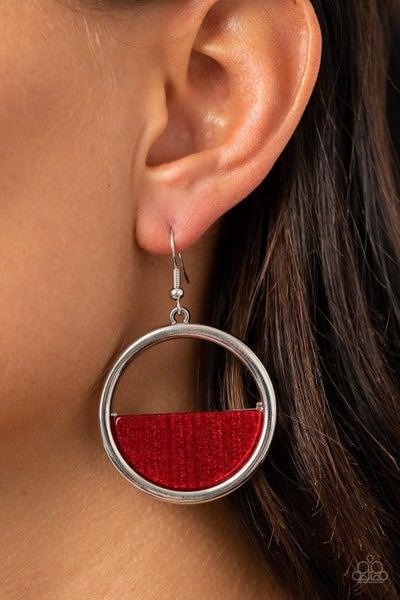 Stuck In Retrograde Red Earrings