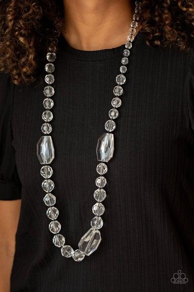 Malibu Masterpiece White Black Necklace